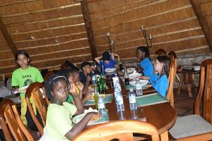 Eating at Camp