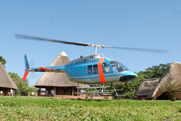helicopter to island