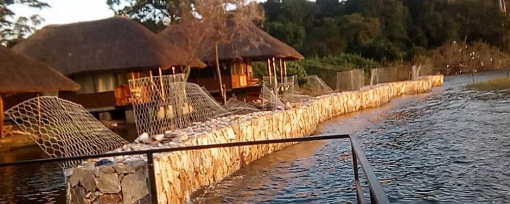 Ngamba Island gets Gabions